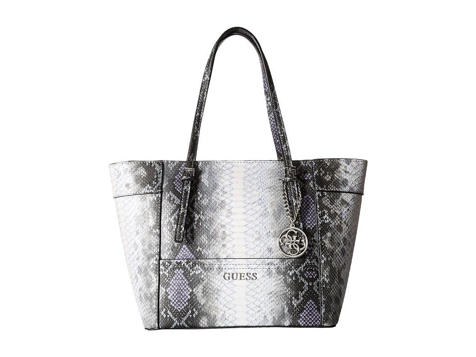 GUESS - Delaney Small Classic Tote (Indigo Multi) Tote Handbags