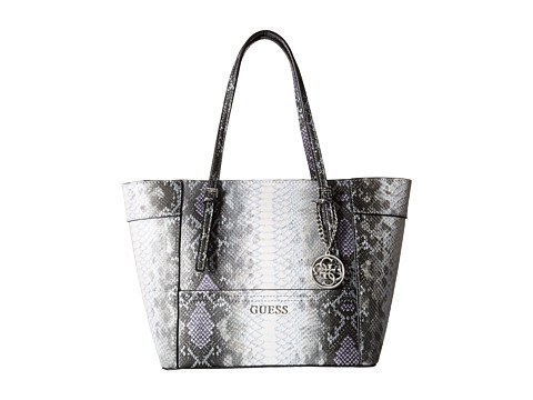 GUESS - Delaney Small Classic Tote (Indigo Multi) Tote Handbags