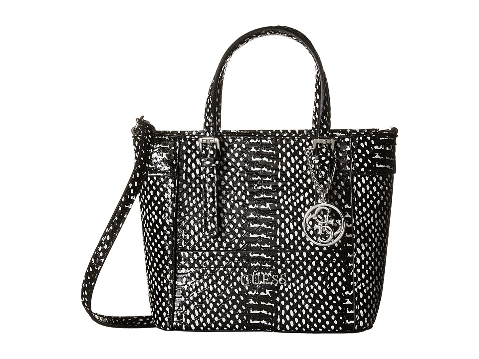 GUESS - Delaney Petite Tote (Black Multi) Handbags