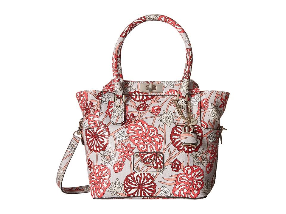 GUESS - Ophelia Turnlock Satchel (Rose Multi) Satchel Handbags