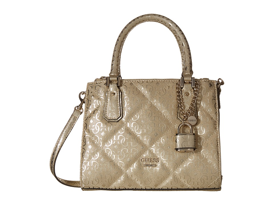GUESS - Ophelia Petite Girlfriend (Gold) Handbags