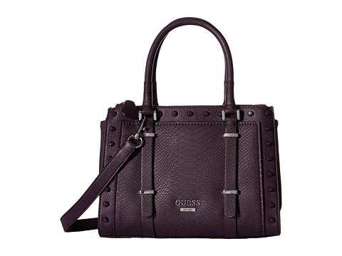 GUESS - Basel Small Status (Aubergine) Handbags