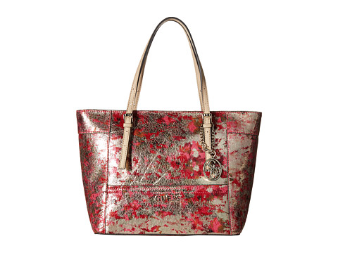 GUESS - Delaney Small Classic Tote (Cherry Multi) Tote Handbags