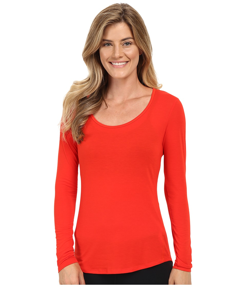 Lucy - Long Sleeve Workout Tee (Rosebud) Women's Long Sleeve Pullover