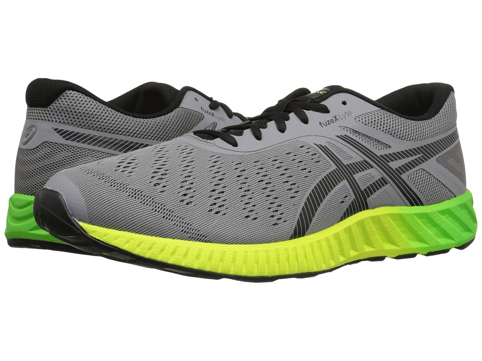 ASICS - FuzeX Lyte (Aluminum/Black/Safety Yellow) Men's Running Shoes