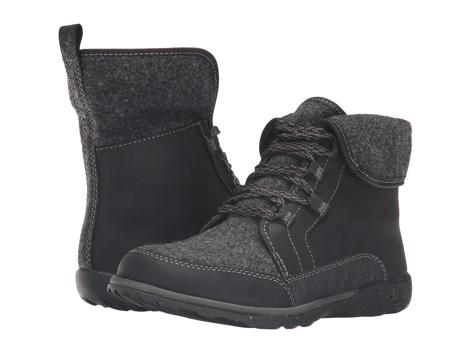 Chaco - Barbary (Black) Women's Lace-up Boots