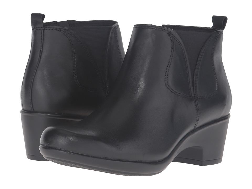 Clarks - Malia Charter (Black Leather) Women's Shoes