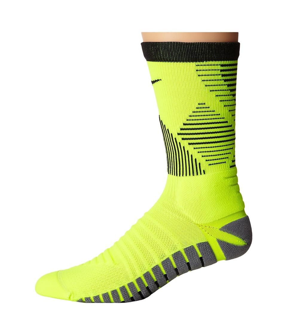 Nike Strike Mercurial Soccer (Volt/Black/Black) Crew Cut Socks Shoes