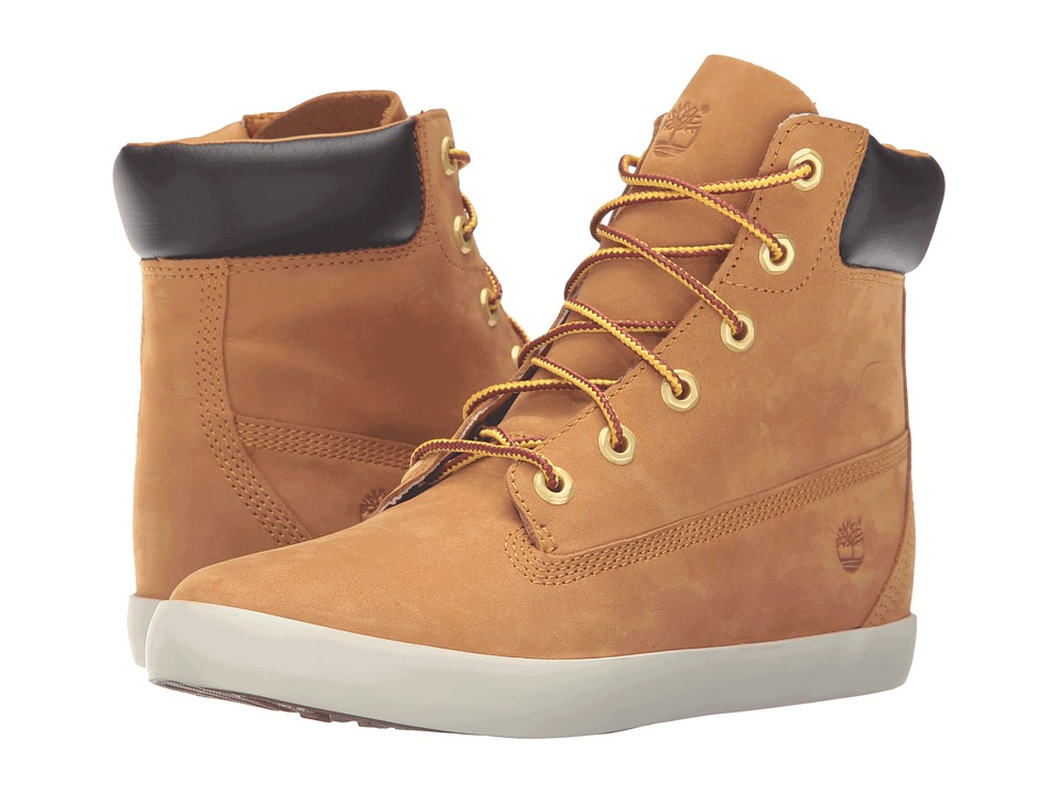 Timberland - Flannery 6 Boot (Wheat Nubuck) Women's Lace-up Boots