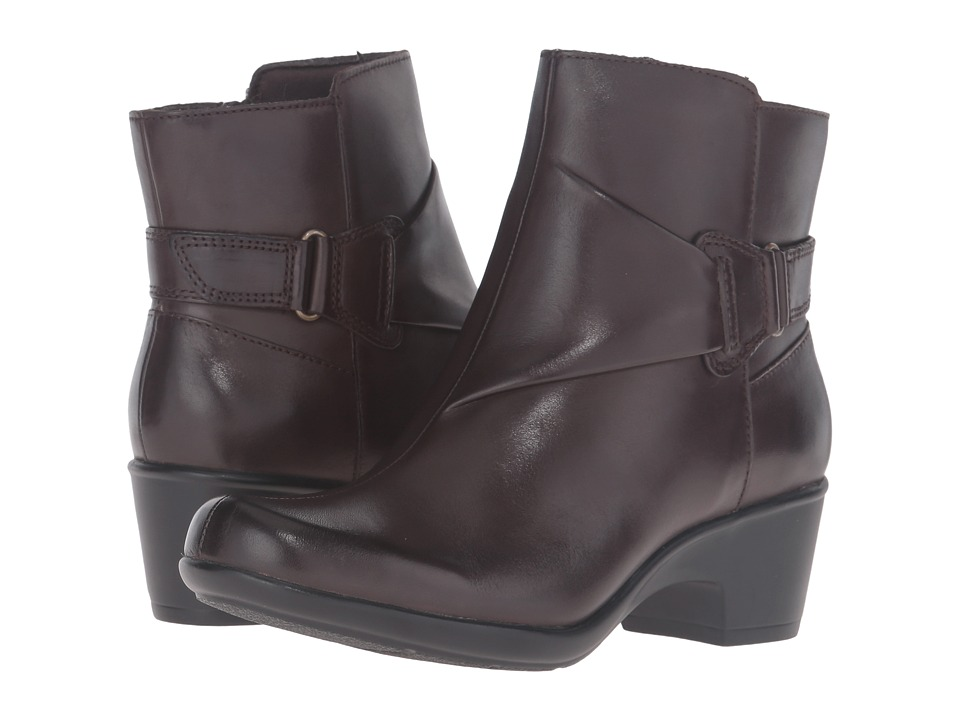Clarks - Malia McCall (Dark Brown Leather) Women's Shoes
