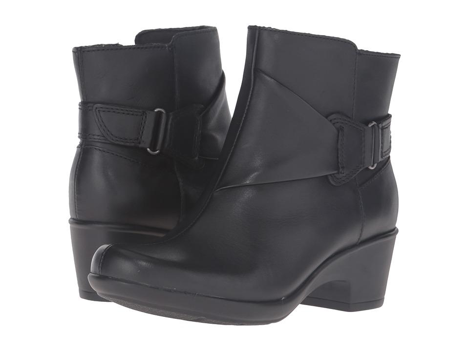 Clarks - Malia McCall (Black Leather) Women's Shoes