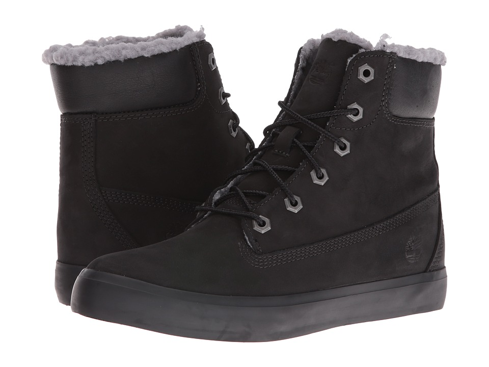 Timberland - Flannery 6 Warm Boot (Black Nubuck) Women's Lace-up Boots