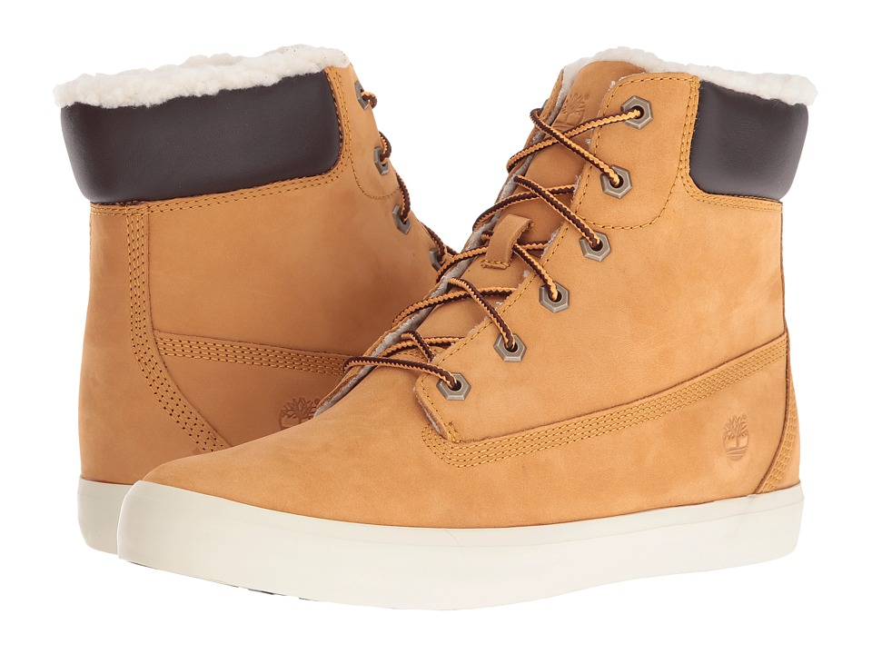 Timberland Flannery 6 Warm Boot (Wheat Nubuck) Women