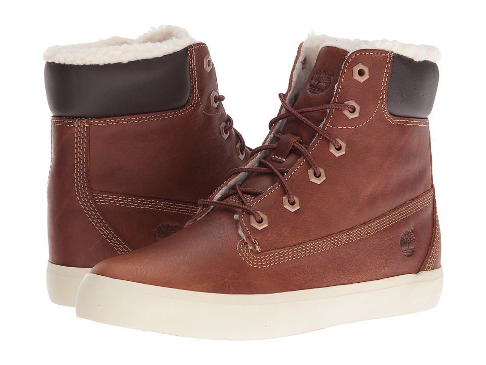 Timberland - Flannery 6 Warm Boot (Medium Brown Full Grain) Women's Lace-up Boots