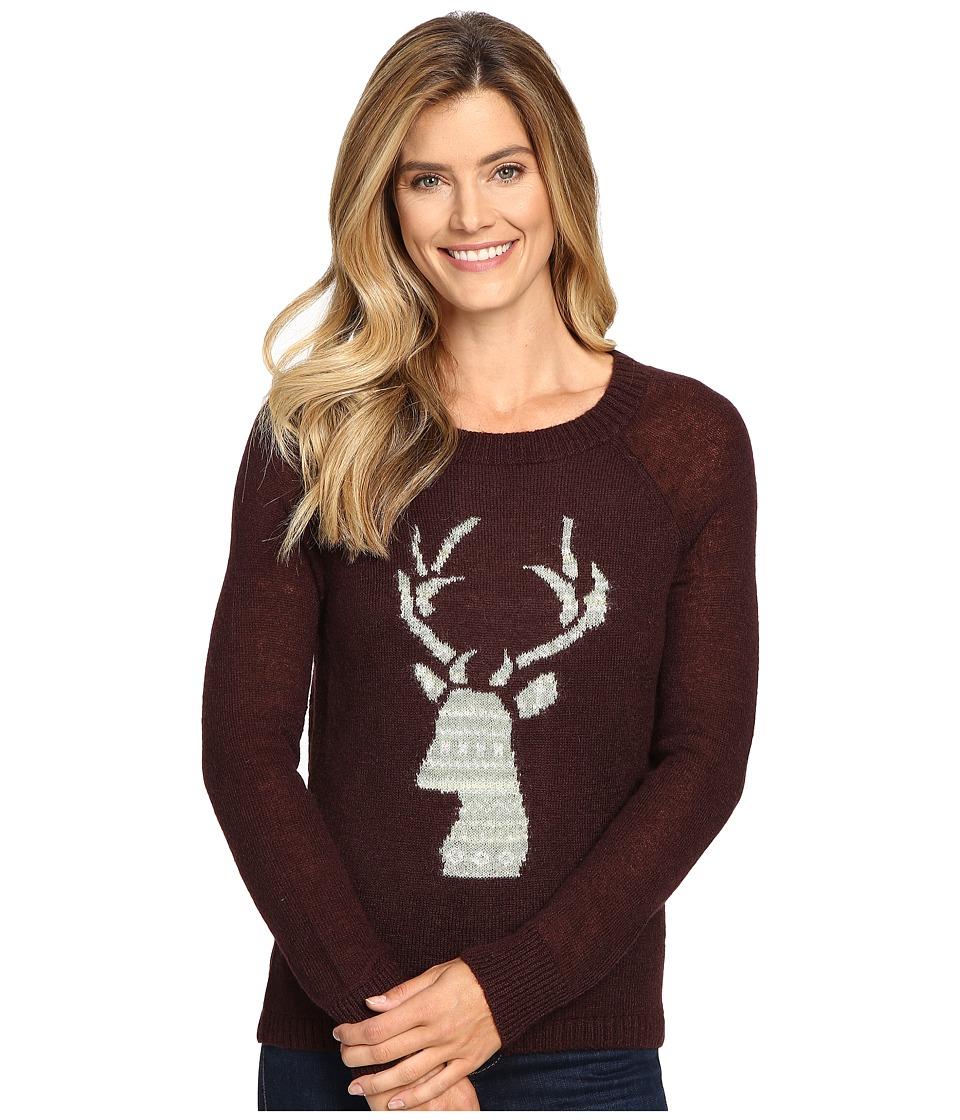 Woolrich - Motif Mohair Crew Sweater (Burgundy) Women's Sweater