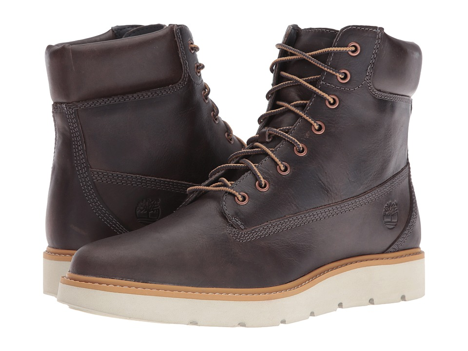 Timberland - Kenniston 6 Lace-Up Boot (Dark Grey Full Grain) Women's Lace-up Boots