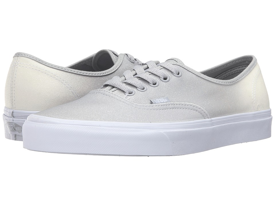 Vans - Authentic ((2 Tone Glitter) White/High-Rise) Skate Shoes