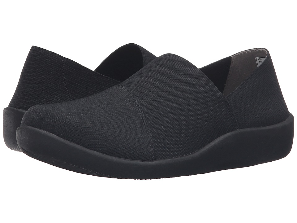 Clarks - Sillian Firn (Black/Black Synthetic) Women's Shoes