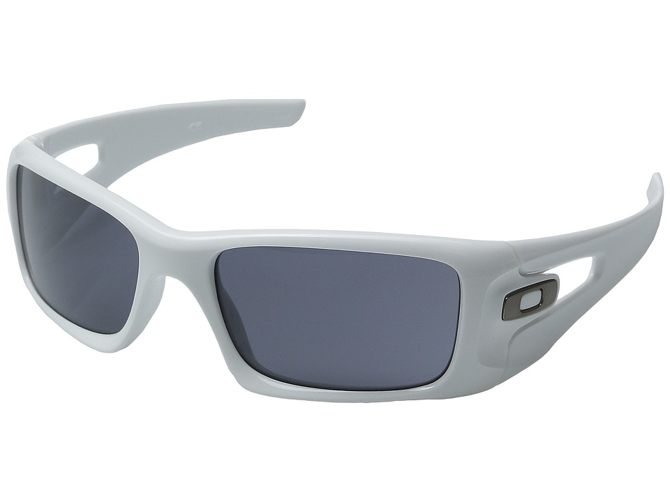 Oakley - Crankcase (Polished White/Grey) Sport Sunglasses