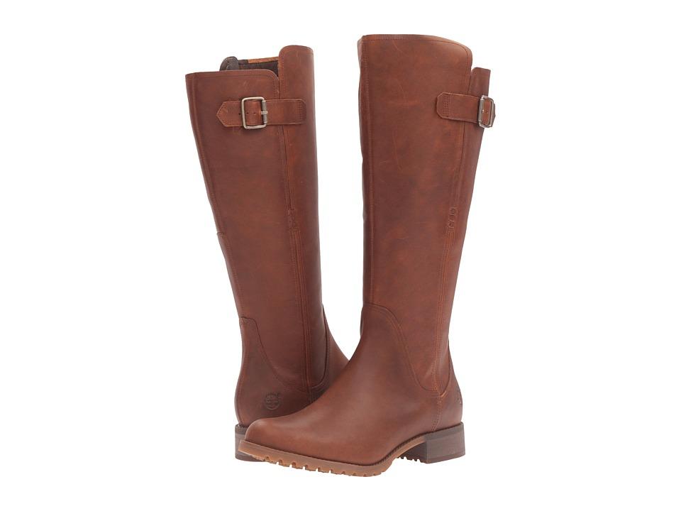 Timberland Banfield Tall All Fit Waterproof Boot (Dark Brown Full Grain) Women's  Waterproof Boots