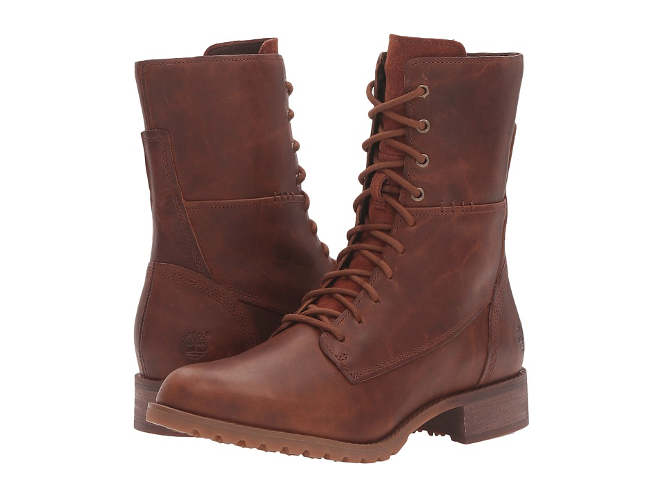 Timberland Banfield Mid Lace Boot (Medium Brown Full Grain) Women