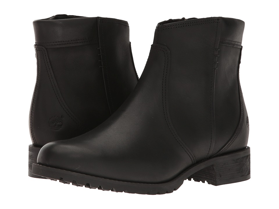 Timberland Banfield Side Zip Waterproof Ankle Boot (Black Full Grain) Women