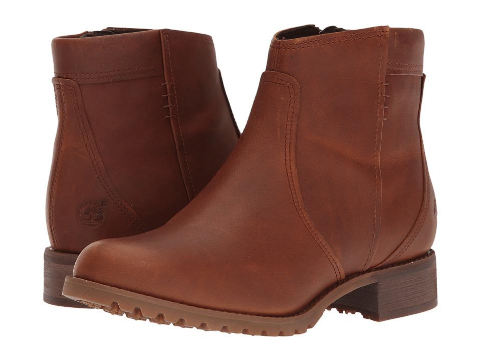 Timberland - Banfield Side Zip Waterproof Ankle Boot (Dark Brown Full Grain) Women's Waterproof Boots