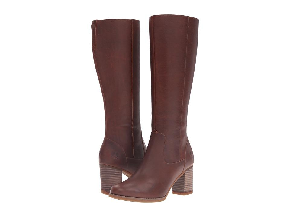Timberland - Atlantic Heights Tall Waterproof Boot (Medium Brown Full Grain) Women's Waterproof Boots