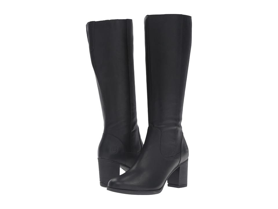 Timberland - Atlantic Heights Tall Waterproof Boot (Black Full Grain) Women's Waterproof Boots