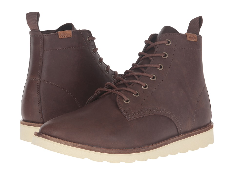 Vans - Sahara Boot (Brown Leather) Men's Lace-up Boots