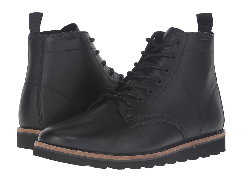 Vans - Sahara Boot (Black Leather) Men's Lace-up Boots