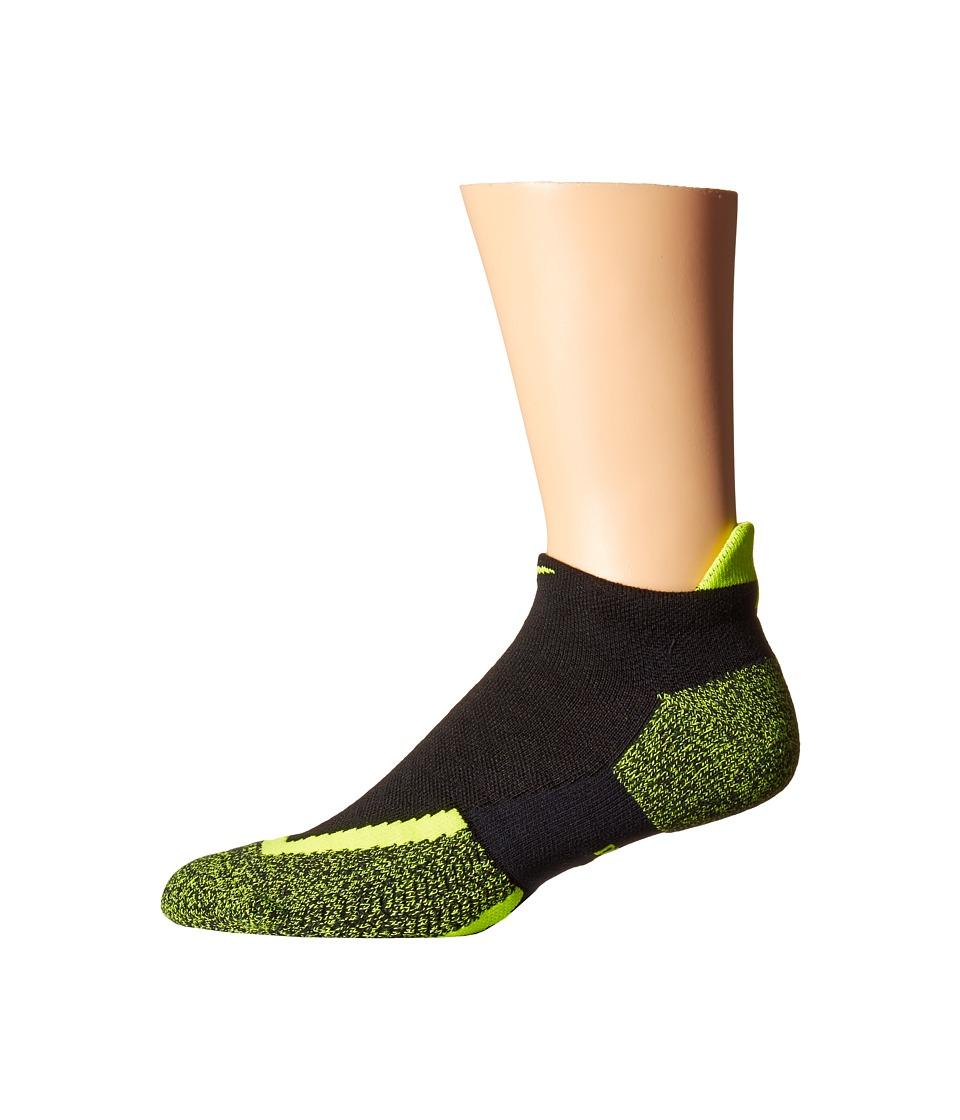 Nike Elite Tennis No Show (Black/Volt/Volt) No Show Socks Shoes