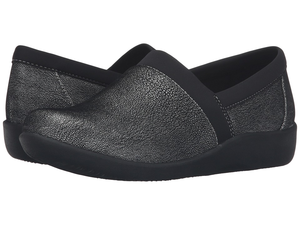Clarks - Sillian Blair (Silver Synthetic Nubuck) Women's Shoes