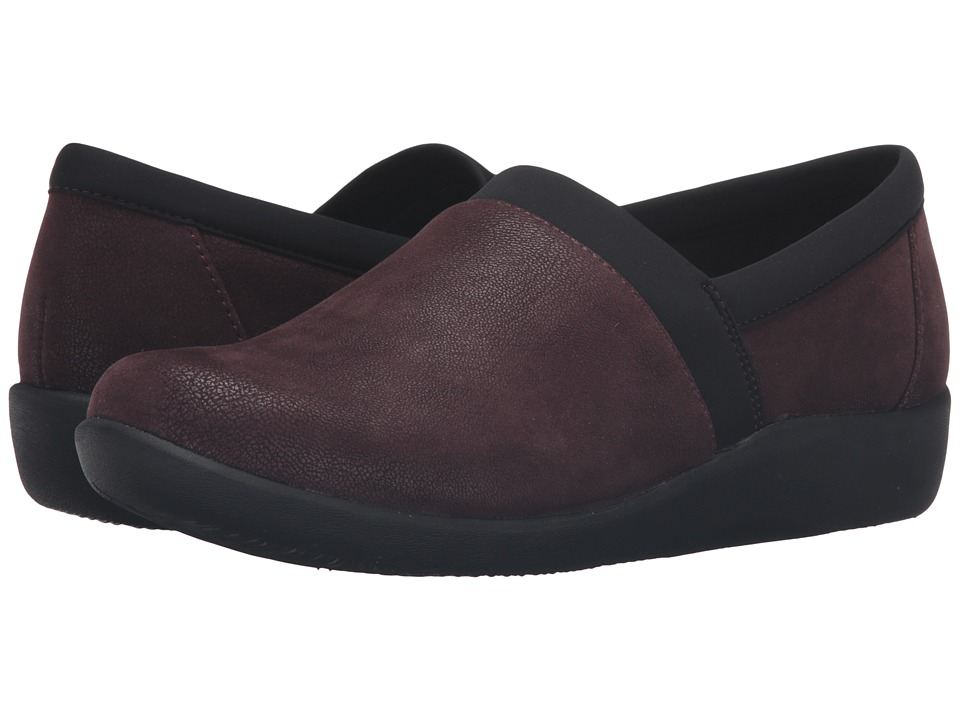 Clarks - Sillian Blair (Oxblood Synthetic Nubuck) Women's Shoes