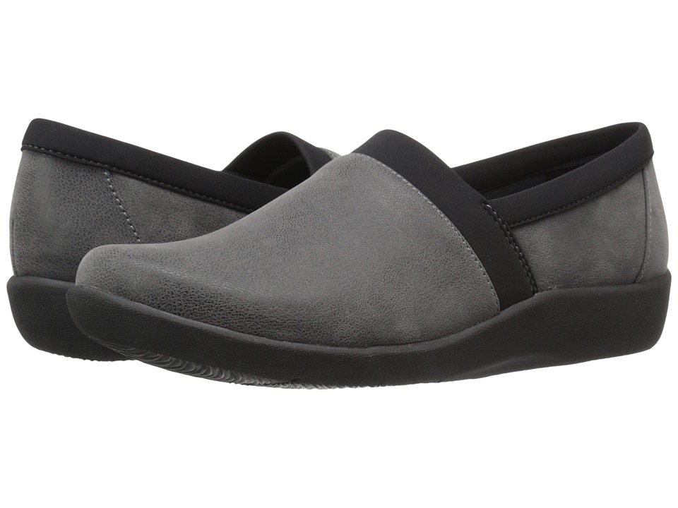 Clarks - Sillian Blair (Grey Synthetic Nubuck) Women's Shoes