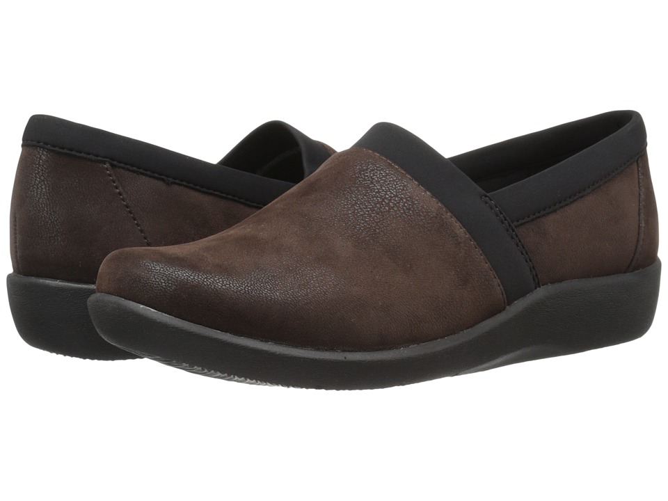 Clarks - Sillian Blair (Brown Synthetic Nubuck) Women's Shoes