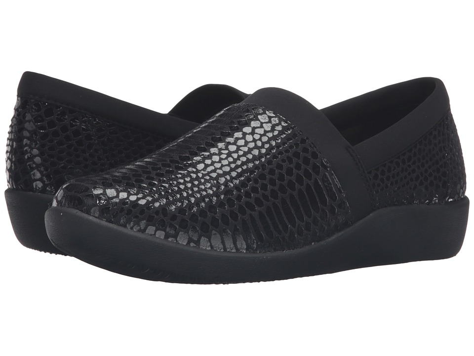 Clarks - Sillian Blair (Black Synthetic Snake) Women's Shoes