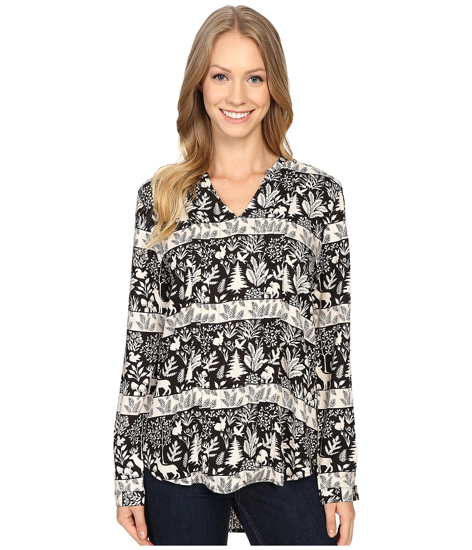 Woolrich - Raku Printed Tunic (Black) Women's Blouse