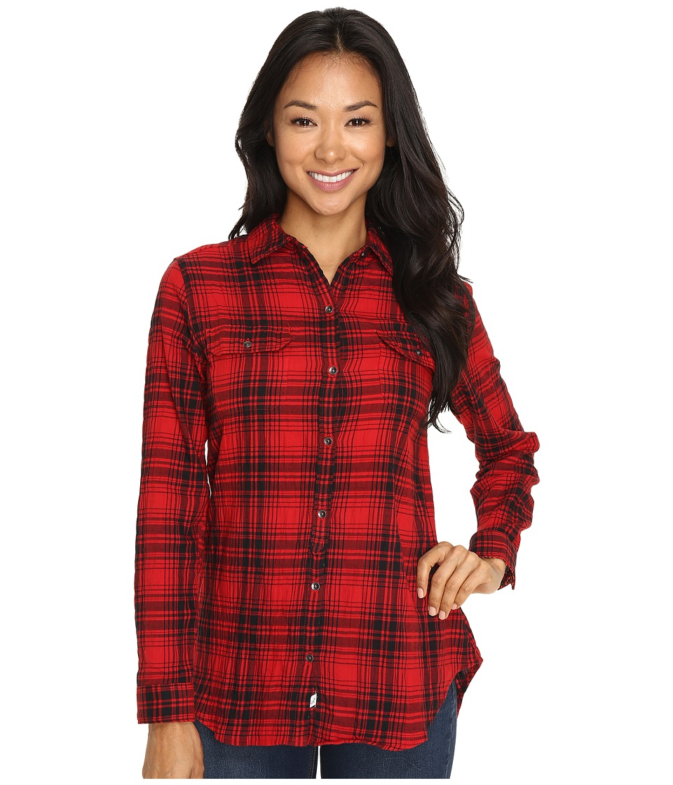 Woolrich - Malila Peak Flannel Shirt (Red Hunt Plaid) Women's Long Sleeve Button Up