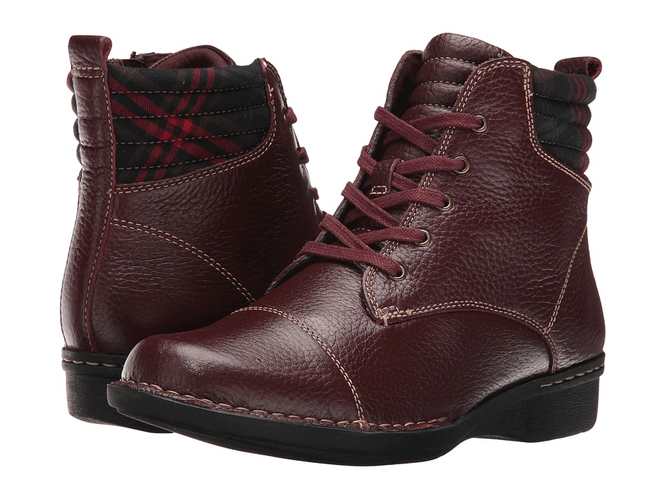 Clarks - Whistle Bea (Burgundy Tumbled) Women's Shoes