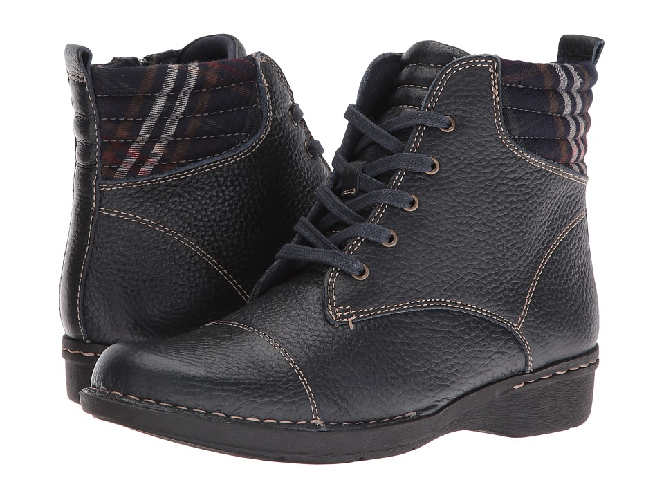 Clarks - Whistle Bea (Navy Tumbled) Women's Shoes