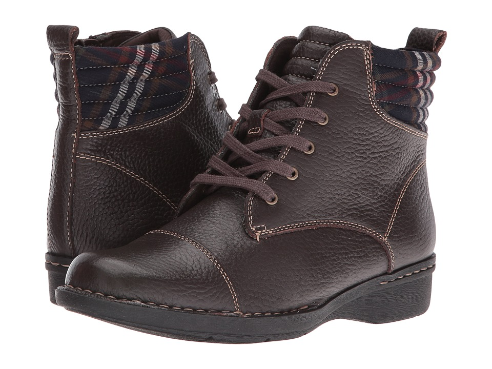 Clarks - Whistle Bea (Brown Tumbled) Women's Shoes