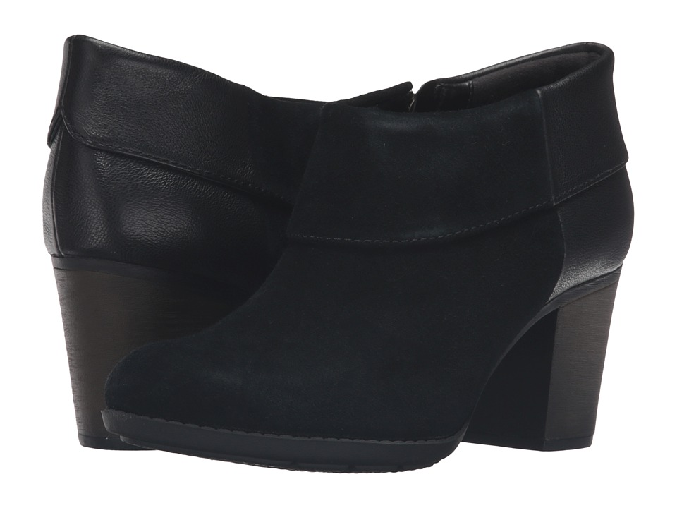 Clarks - Enfield Canal (Black Suede/Leather) Women's Boots