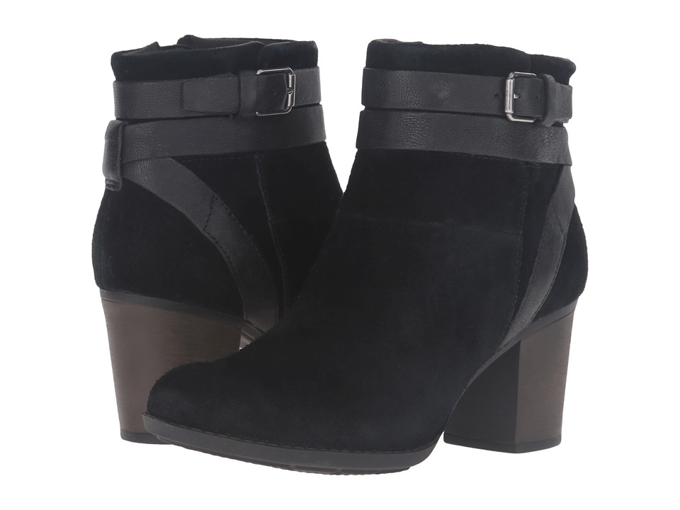 Clarks - Enfield River (Black Suede/Leather) Women's Boots