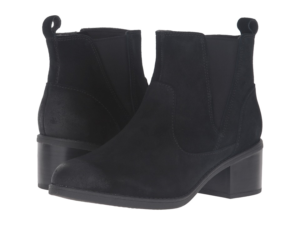 Clarks - Nevella Bell (Black Suede) Women's Boots