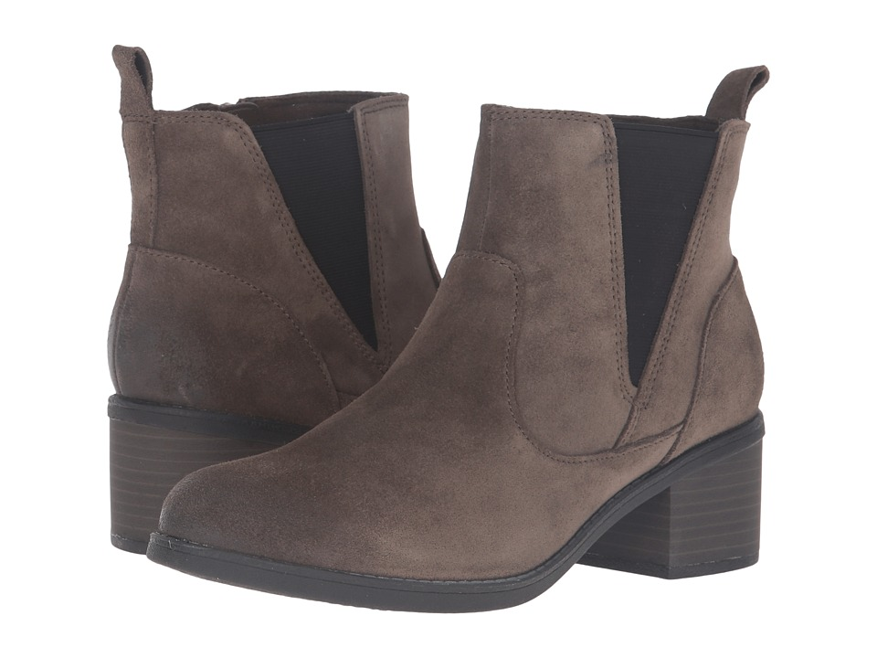 Clarks - Nevella Bell (Dark Taupe Suede) Women's Boots