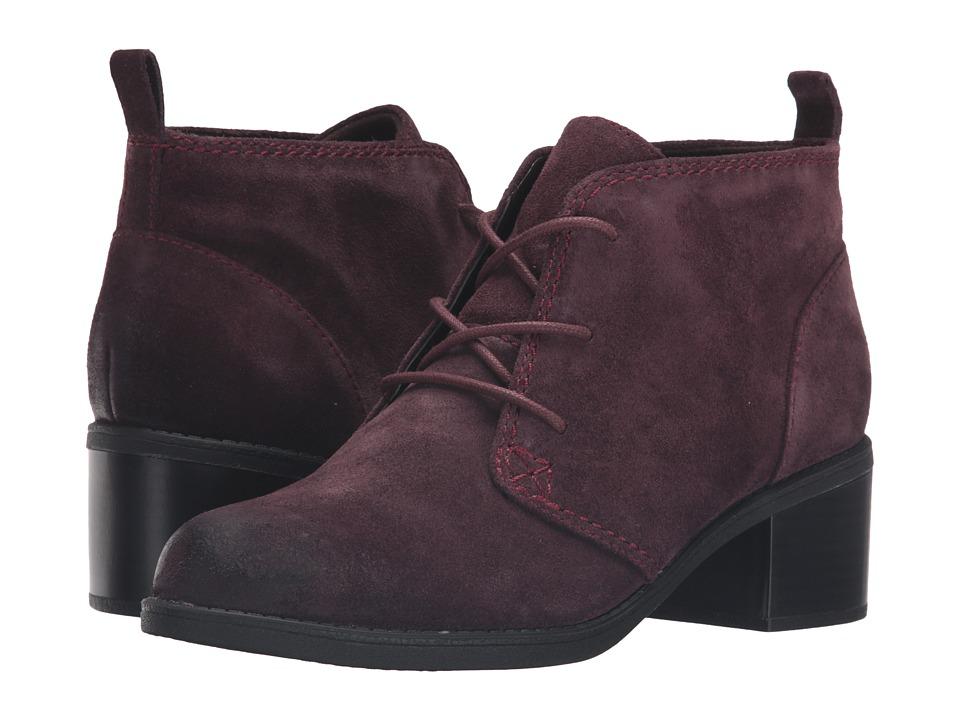 Clarks - Nevella Harper (Aubergine Suede) Women's Boots