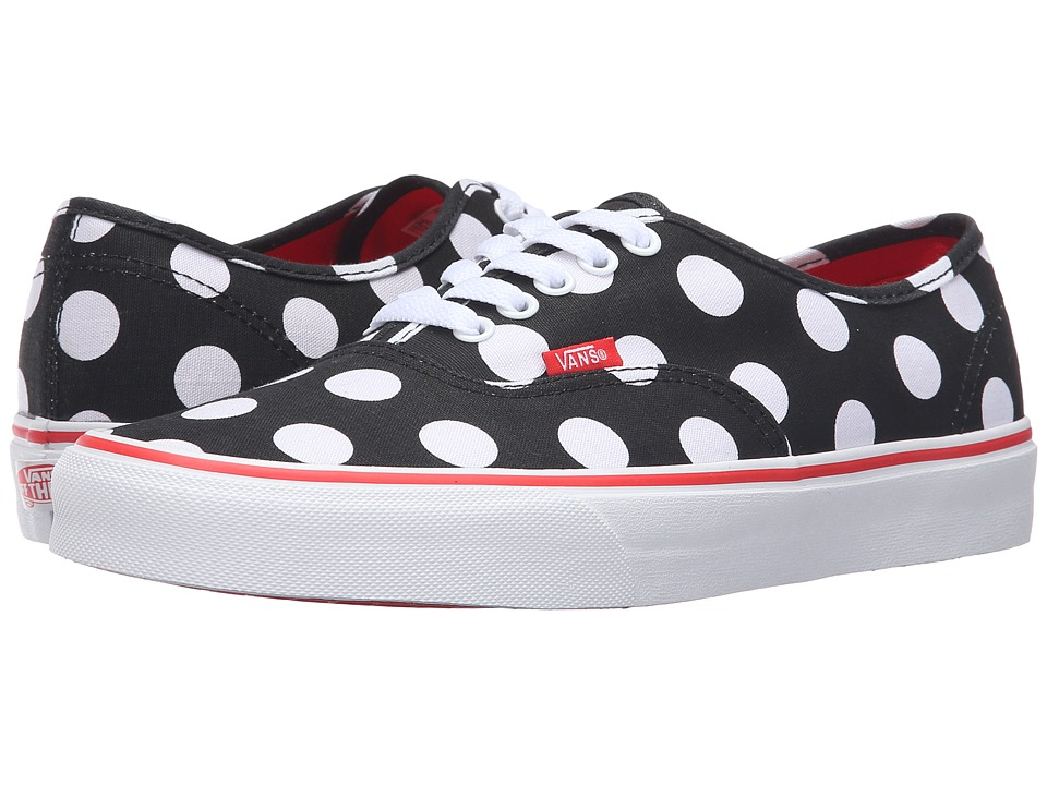 Vans - Authentic ((Polka Dot) Black/Fiery Red) Skate Shoes