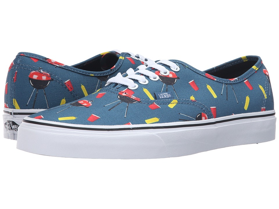 Vans - Authentic ((Pool Vibes) Blue Ashes/True White) Skate Shoes