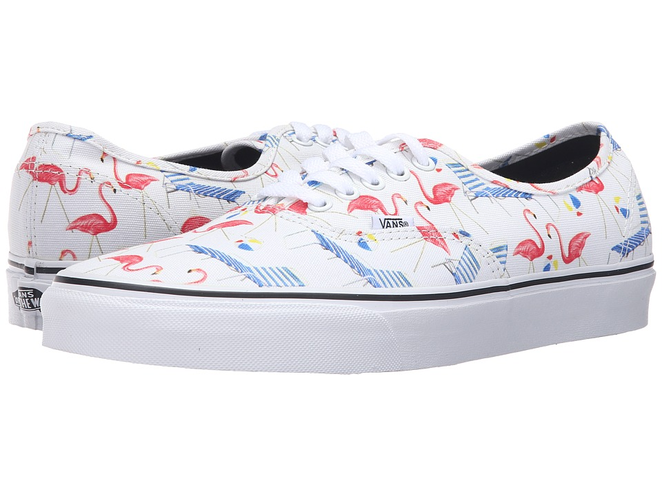 Vans - Authentic ((Pool Vibes) Classic White/True White) Skate Shoes